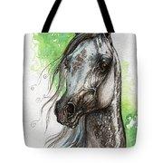 Ostragon Polish Arabian Horse Painting   Tote Bag