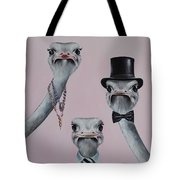 Ostrich Family Tote Bag