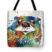 Otter Art - Ottertude - By Sharon Cummings Tote Bag