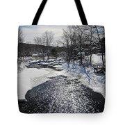 Otter Brook Scene Tote Bag