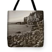 Otter Cliffs Black And White Tote Bag