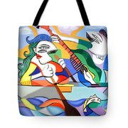 Our First Cruse  Tote Bag by Anthony Falbo
