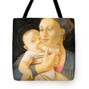 Our Lady Nursing The Child Tote Bag