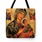 Our Lady Of Perpetual Help Icon II Tote Bag by Ryszard Sleczka