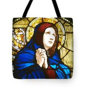 Our Lady Of Sorrows In Stained Glass Tote Bag