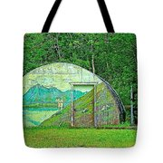 Our Lady Of The Way Quonset Hut Chapel In Haines Junction-yt Tote Bag