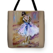 Our  Ballerina Girl Painting Tote Bag