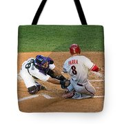 Out At The Plate Tote Bag