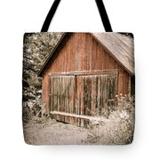 Out By The Woodshed Tote Bag by Edward Fielding