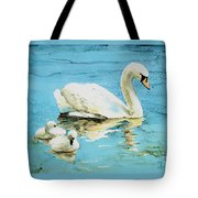 Out For A Morning Swim Tote Bag
