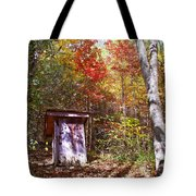 Out House In The Fall Tote Bag
