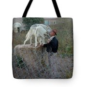 Out Of Africa  Friendly Wolves Tote Bag
