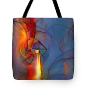 Out Of The Blue-abstract Art Tote Bag