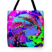 Out Of The Blue Wave Abstract Tote Bag