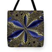 Out Of The Negative Into The Blue Flower Tote Bag