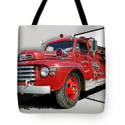 Out Of The Photo Fire Truck Tote Bag