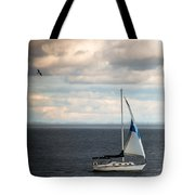 Out Running The Storm Tote Bag