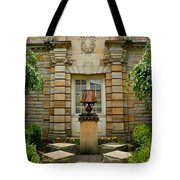 Outdoor Benches At Sewickely Pennsylvania Library Tote Bag