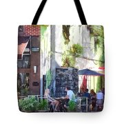 Outdoor Cafe Philadelphia Pa Tote Bag