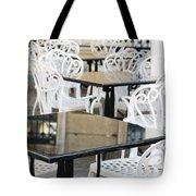 Outdoor Cafe Tables Tote Bag by Oscar Gutierrez