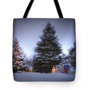 Outdoor Christmas Tree Tote Bag