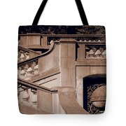Outdoor Estate Stairway In Sepia Tote Bag