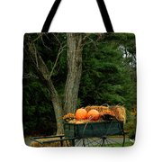 Outdoor Fall Halloween Decorations Tote Bag