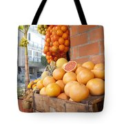 Outdoor Fruit Juice Stall  Tote Bag