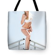 Outdoor Lingerie Portrait Tote Bag