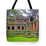 Outer Building Of Angkor Wat In Angkor Wat Archeological Park Near Siem Reap-cambodia  Tote Bag