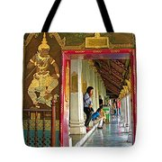 Outer Hall In Thai-khmer Pagoda At Grand Palace Of Thailand Tote Bag