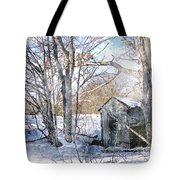 Outhouse In Winter Tote Bag