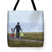 Outing In Autumn Tote Bag