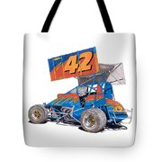 Dirt Track Racing Outlaw 42 Tote Bag