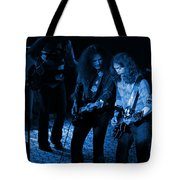 Outlaws #25 Crop 2 Blue Tote Bag