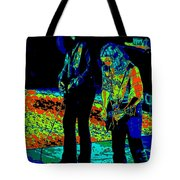 Outlaws #31 Crop 2 Art Psychedelic Tote Bag