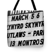 Winterland Marquee 3-6-76 Tote Bag