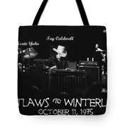 Outlaws With Toy Caldwell 1975 Tote Bag