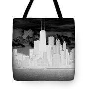 Outline Of Chicago Tote Bag