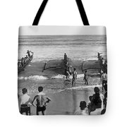 Outrigger Canoe Championship Tote Bag