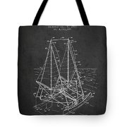 Outrigger Sailboat Patent From 1977 - Dark Tote Bag