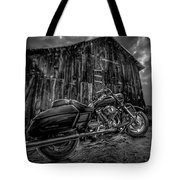 Outside The Barn Bw Tote Bag