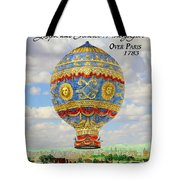 Over Paris 1783 Tote Bag