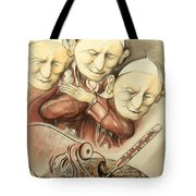 Over-pope-ulation - Cartoon Art Tote Bag