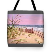 Over The Dunes To The Garden City Pier  Tote Bag