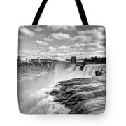 Over The Edge 1 Bw Tote Bag