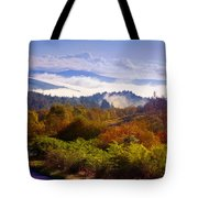 Over The Fog. Trossachs National Park. Scotland Tote Bag by Jenny Rainbow