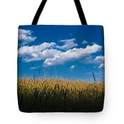 Over The Grass Tote Bag