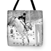 Over The Jump Tote Bag