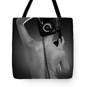 Over The Phone Tote Bag